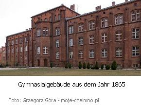 Königlich Katholisches Gymnasium in Culm, Südseite des 1865 entstandenen Gebäudes
