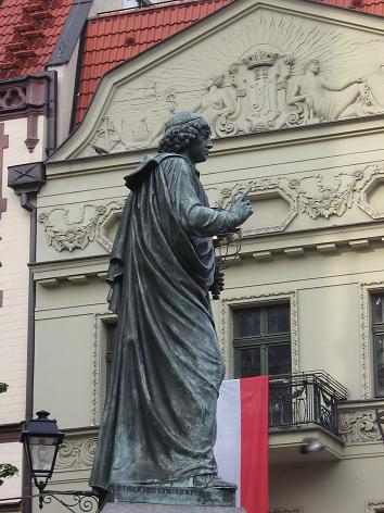 Kopernikus-Denkmal am Altstädter Markt in Thorn (Toruń)
